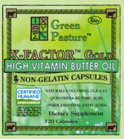 X-FACTOR Gold High Vitamin Butter Oil- Non-Gelatin CAPSULES