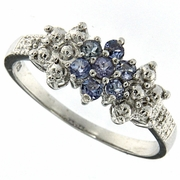 0.29ctw Tanzanite Ring in Sterling Silver