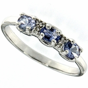 0.34ctw Tanzanite Ring in Sterling Silver