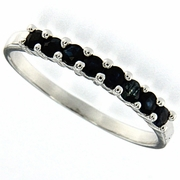 0.35ctw Sapphire Ring in Sterling Silver