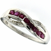 0.40ctw Ruby Ring in Sterling Silver