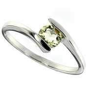 0.41ctw Lemon Quartz Ring in Sterling Silver