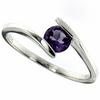 0.43ctw Amethyst Ring in Sterling Silver