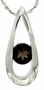 "0.43ctw Smokey Quartz Pendant in Sterling Silver with 18""Chain"