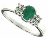 0.45ctw Emerald Ring in Sterling Silver
