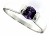 0.46ctw Amethyst Ring in Sterling Silver