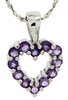 "0.48ctw Amethyst Pendant in Sterling Silver with 18"" Chain"