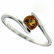 0.48ctw Citrine Ring in Sterling Silver