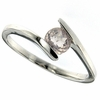 0.48ctw Rose Quartz Ring in Sterling Silver