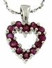 "0.48ctw Ruby Pendant in Sterling Silver with 18"" Chain"