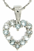 "0.48ctw Sky Topaz Pendant in Sterling Silver with 18""Chain"