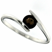 0.48ctw Smoky Topaz Ring in Sterling Silver
