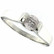 0.49ctw Rose Quartz Ring in Sterling Silver