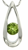 "0.54ctw Peridot Pendant in Sterling Silver with 18"" Chain"