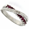 0.54ctw Ruby Ring in Sterling Silver