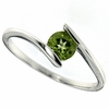 0.55ctw Peridot Ring in Sterling Silver