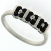0.56ctw Black Sapphire Ring in Sterling Silver
