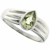 0.56ctw Lemon Quartz Ring in Sterling Silver