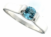 0.60ctw Swiss Blue Topaz Ring in Sterling Silver