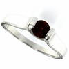 0.61ctw Garnet Ring in Sterling Silver