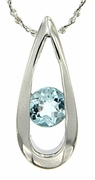 "0.61ctw Sky Topaz Pendant in Sterling Silver with 18"" Chain"