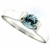 0.61ctw Sky Topaz Ring in Sterling Silver