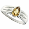 0.63ctw Citrine Ring in Sterling Silver