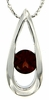 "0.63ctw Garnet Pendant in Sterling Silver with 18"" Chain"