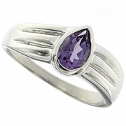 0.64ctw Amethyst Ring in Sterling Silver