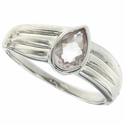 0.64ctw Rose Quartz Ring in Sterling Silver