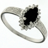 0.64ctw Sapphire and Diamond Ring in Sterling Silver