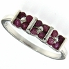 0.65ctw Ruby Ring in Sterling Silver