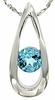 "0.66ctw Swiss Blue Topaz Pendant in Sterling Silver with 18"" Chain"