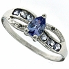 0.66ctw Tanzanite Ring in Sterling Silver