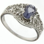 0.70ctw Iolite Ring in Sterling Silver