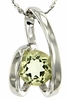 "0.70ctw Lemon Quartz Pendant in Sterling Silver with 18""Chain"