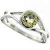 0.70ctw Lemon Quartz Ring in Sterling Silver