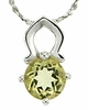 "0.71ctw Lemon Quartz Pendant in Sterling Silver with 18""Chain"