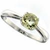 0.71ctw Lemon Quartz Ring in Sterling Silver