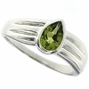0.71ctw Peridot Ring in Sterling Silver