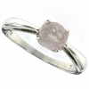0.73ctw Rose Quartz Ring in Sterling Silver
