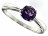 0.74ctw Amethyst Ring in Sterling Silver