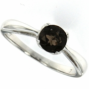 0.74ctw Smoky Topaz Ring in Sterling Silver