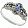 0.74ctw Tanzanite Ring in Sterling Silver