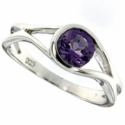 0.75ctw Amethyst Ring in Sterling Silver