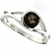 0.76ctw Smoky Topaz Ring in Sterling Silver