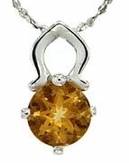 "0.78ctw Citrine Pendant in Sterling Silver with 18"" Chain"