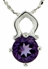 "0.80ctw Amethyst Pendant in Sterling Silver with 18"" Chain"