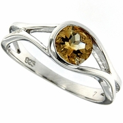 0.80ctw Citrine Ring in Sterling Silver