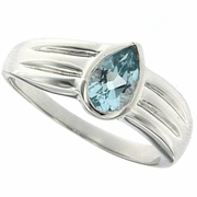 0.80ctw Sky Topaz Ring in Sterling Silver